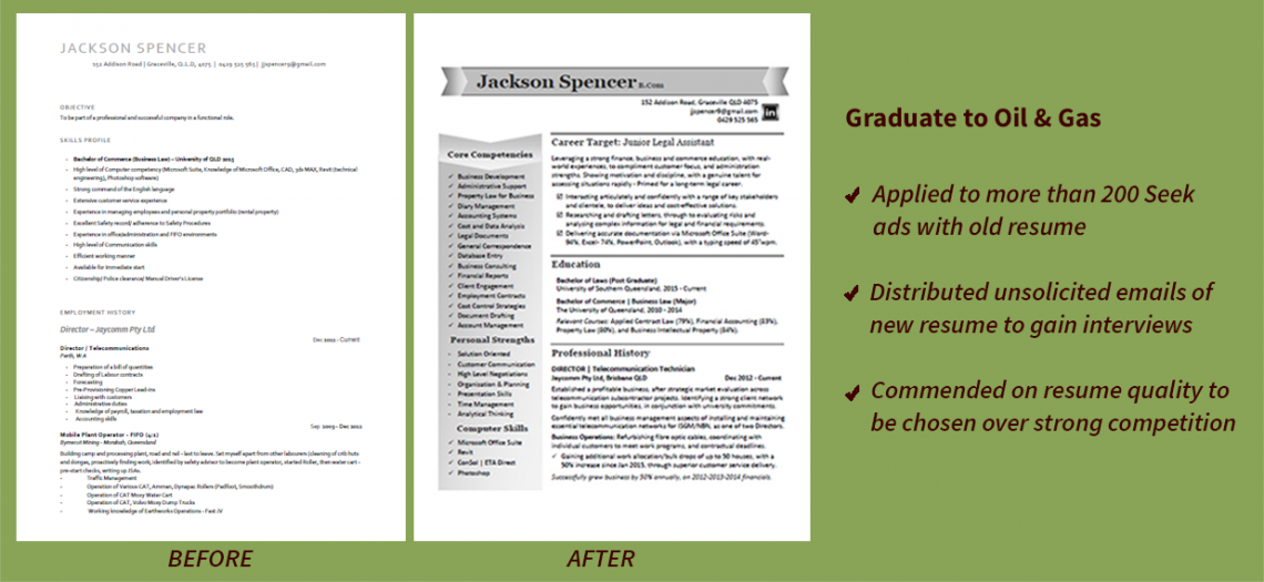 resume sample compare graduate